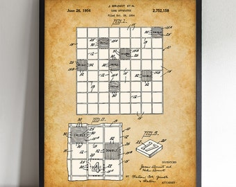 Scrabble Board Game - Printable Art - Great Gift for Gameroom - Instant Download