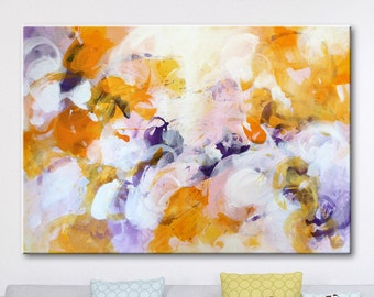Large painting abstract original painting office decor Yellow art large wall art on canvas abstract painting original art large modern
