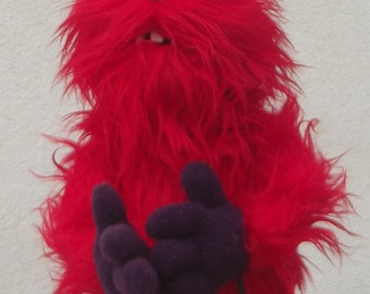 ARMANDO  the red monster puppet