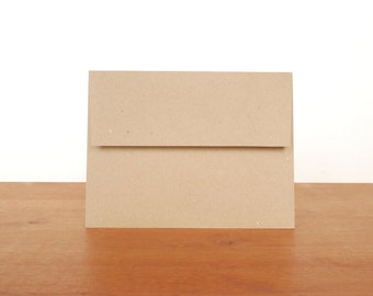 kraft A2 envelopes: set of 10, blank