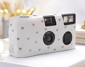 15 Disposable Cameras - Wedding Favor - Heart Pattern Camera - Wedding - True Love - Photo Booth - Party - Single Use - Romance - Set of 15