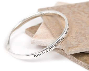 Dull Sparkle Friendship Message Bangle-Friendship Slogan Bangle- Bangle For a Love & Friendship-Silver plated Bangle