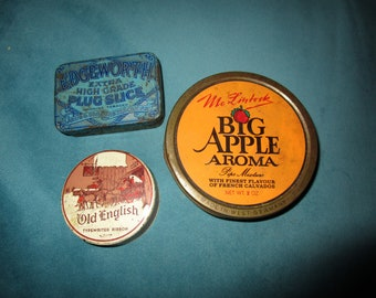 Three Old Collectible Tin Cans from the 1950s/60s