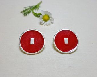 Circle Studs, Round Studs, Circle Stud Earrings, Colorful Earrings, Disc Studs, Disc Earrings, Round Stud Earrings, Circle Post Earrings