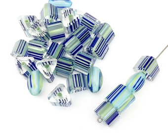 Sale!  26 furnace glass beads, 9mm to 10mm # PV130
