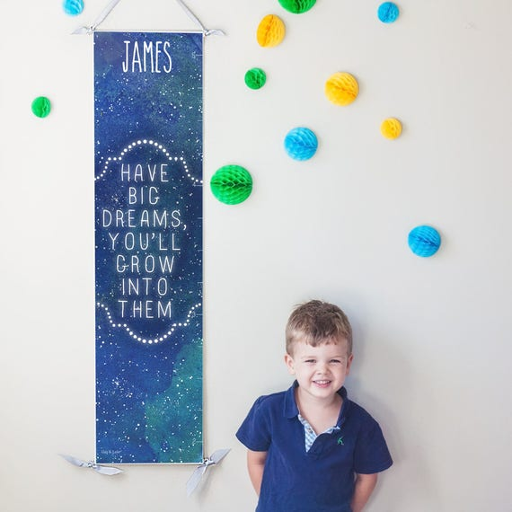 "Personalized Starry ""Have Big Dreams"" growth chart"