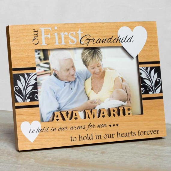 Personalized Baby Picture Frame First Grandchild Frame