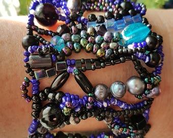 Free Form Peyote stitch cuff bracelet