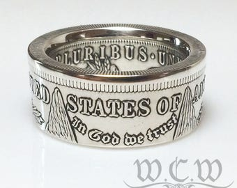Morgan Silver Dollar Coin Ring - Pick Your Year - US One Dollar