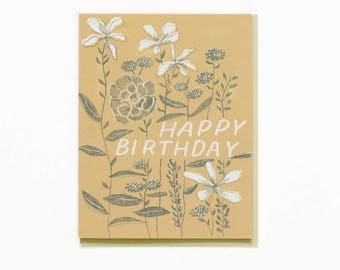 Growing Flowers Birthday Card