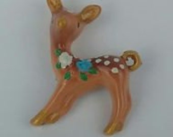 Jewellery Retro Respection, Resin Bambi Brooch small NEW handmade
