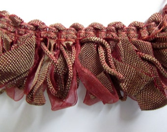 Amazing ribbon Fringe trim in reddish bronge