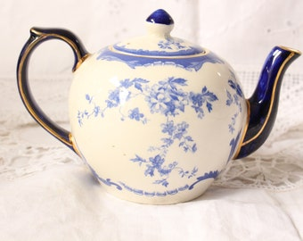 Wade Blue and White Teapot for one