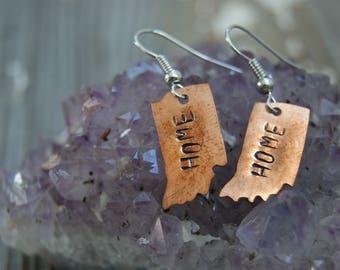 Home Earrings- Indiana Hoosier Earrings