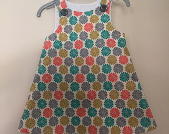 Lovely Retro Flower Pinafore