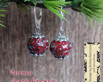 Mother Day gift for women Red earrings Lampwork jewelry Red glass earrings Murano Glass earrings for sister for girlfriend for wife for mom