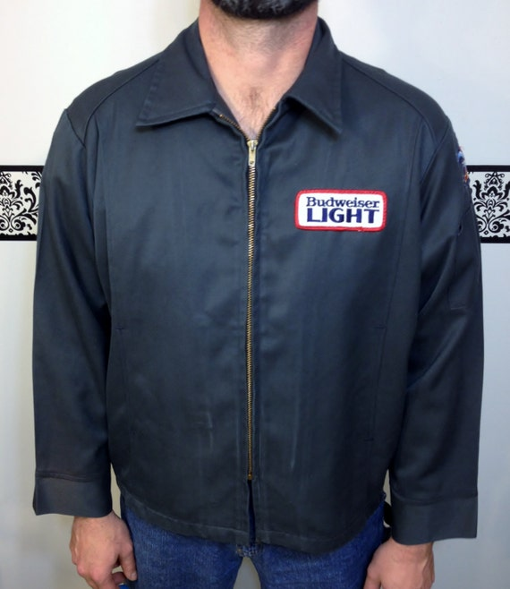 Light Collectors Vintage 46 Before Jacket Short 1980's Budweiser Delivery Size Sale was Unitog Rare Bud Light it YazPPf