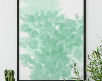 Mint Green Abstract Art Green Abstract Printable Art Wall Decor Mint Green  Printable Mint Green Wall