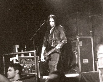 Peter Steele Type O Negative Live 8X10 Photo World Coming Down Tour 9/29/99 B&W