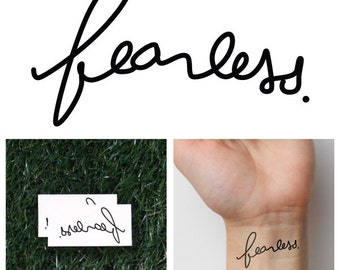 Fearless - Temporary Tattoo (Set of 2)