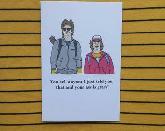 Steve and Dustin Stranger Things card