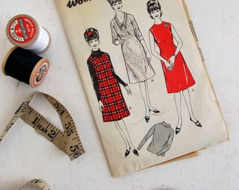 """Fantastic true vintage 1960s sewing pattern for a dress, tunic dress and sweater size 36"""" bust~UNUSED! (W446)"""
