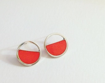 Orange Resin Earrings