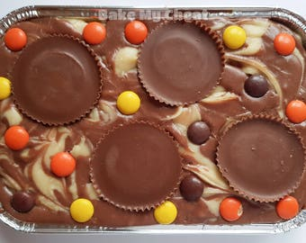 Peanut Butter Chocolate Swirled Gluten-Free Fudge Tray