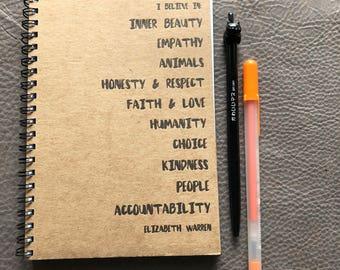 Elizabeth Warren Letterpress Notebook