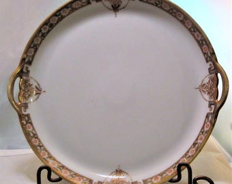 Antique Nippon Hand Painted Gold Trimmed Exquisite Cabinet Plate