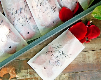 Glassine Toss Bags - DIY Wedding Exit - Happily Ever After - Rose Petal Exit Shower - Pack of 20 bags