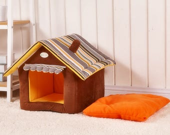 Personalized Dog/Cat House Medium Brown