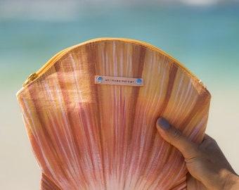 sunrise shell clutch