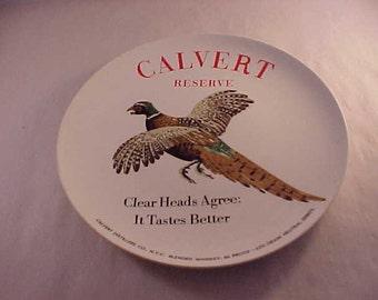 Calvert Reserve Whiskey Advertising Plate