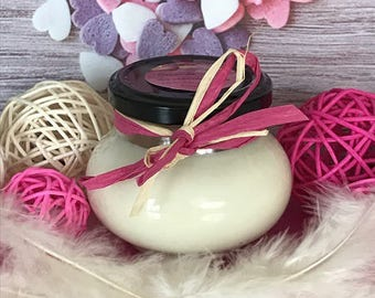natural magnolia scent soy wax candle