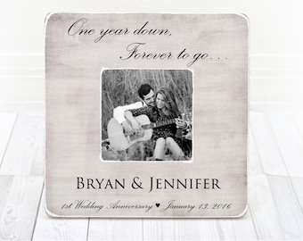 Anniversary picture frame, 1st Anniversary Gift Picture Frame, 1 Year Anniversary, First Anniversary gift, 1st Wedding Anniversary Gift