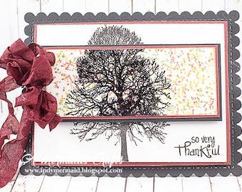 Handmade So Very Thankful / Thanksgiving Greeting Card