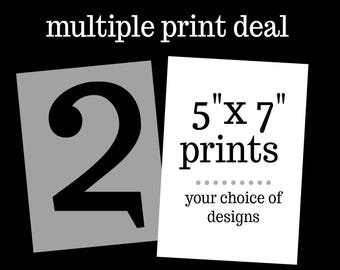 """Two 5"""" x 7"""" Print Deal"""