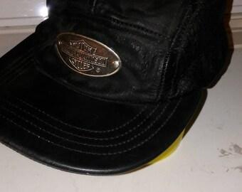 Harley Davidson vintage genuine leather hat plus free gift