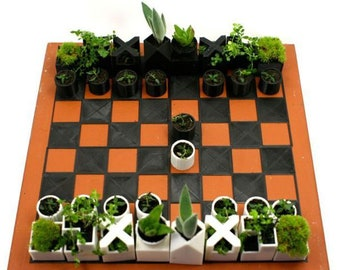 Chess Set Planter Succulents Gift