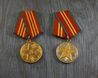 Military Gift|For|Him Vintage military medal Soviet union Russian Soviet collectibles Soviet army medal Vintage decor Vintage medal