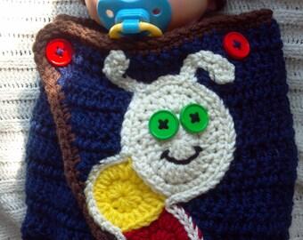 Caterpillar Sleep Sack - Boys Sleep Sack - Newborn Wrap - Swaddler Cocoon and Hat - Photo prop - 0-3 months