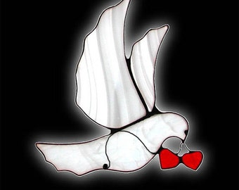 Love Dove with Two Hearts