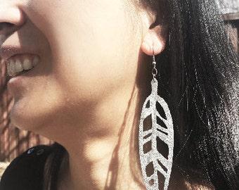 Leather Leaf earring (Korrs)