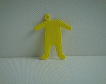 Cut out pendant Bodysuit yellow foam for creating jewelry, keychain...