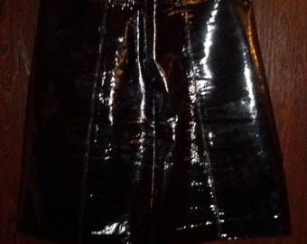 Leather pvc skirt
