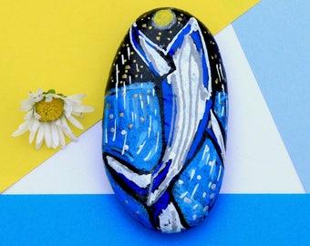 Whale Painting, Whale Nursery Decor, Illustration Whale, Whale Art Painting, Pebble Art, Whale Art Decor, Animal Art, Home Decor