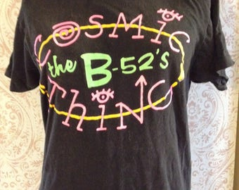 B-52's Cosmic Thing Concert Tee (free shipping)