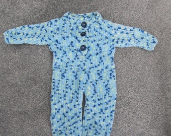 Boys Hand Knitted Sleepsuit - 3-6 Months