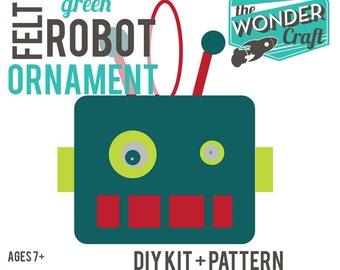 DIY Digital Felt Robot Instructions-Make an Ornament or a Fascinator